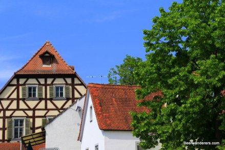half-timbered house in village