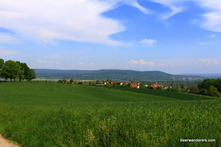 countryside view of village
