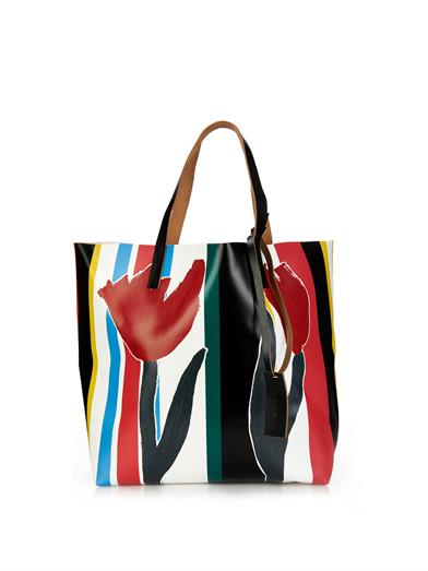 Matches, Marni Printed PVC & Leather Tote