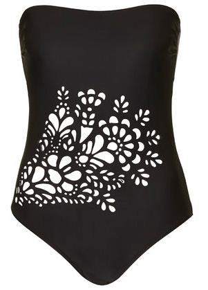 Topshop, Floral Laser Cut Swimsuit