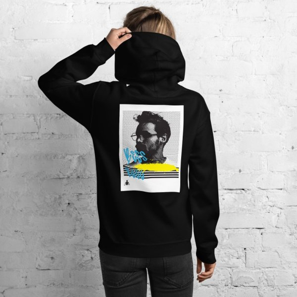 """Women hoodie """"halftone face' high quality"""