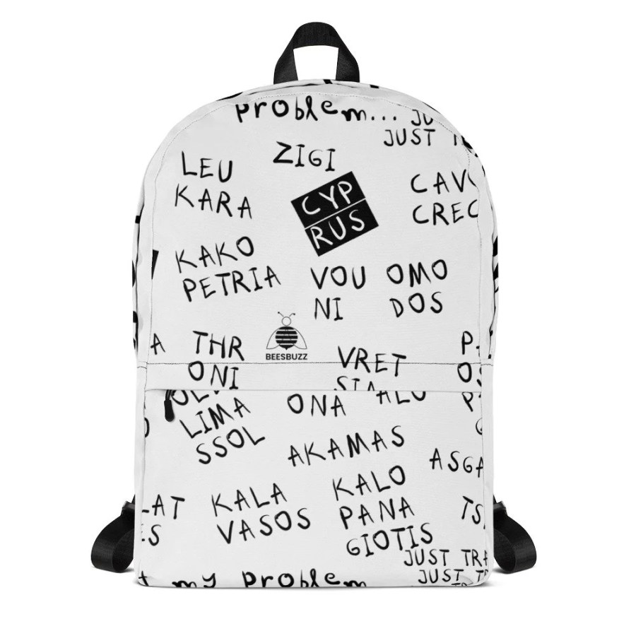 """All over printed backpack 1 """"Cyprus places"""" high quality"""