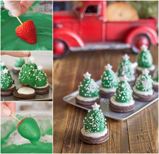 Chocolate Covered Strawberry Christmas Trees Recipe