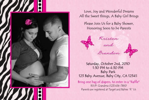 zebra baby shower invitations, Baby shower invitations