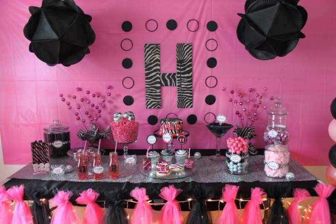 Zebra Print Birthday Party Decorations