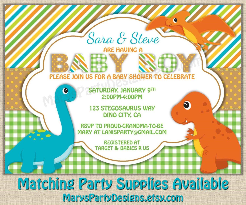 Dinosaur Themed Baby Shower Ideas