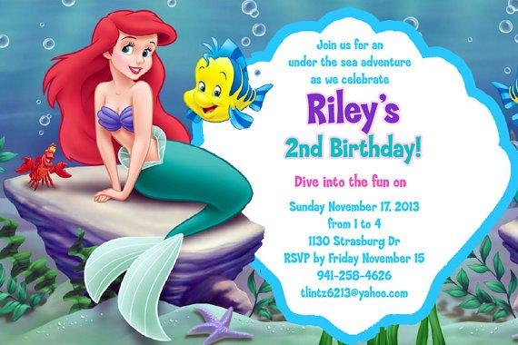 The Little Mermaid Birthday Invitations Free Printable