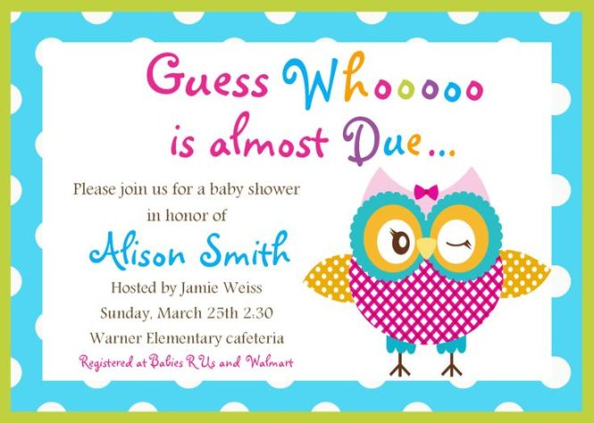 Email Baby Shower Invitations Free