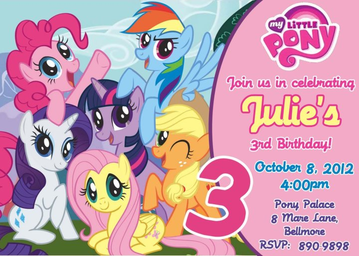My Little Pony Birthday Party Invitations Free Printable Baby