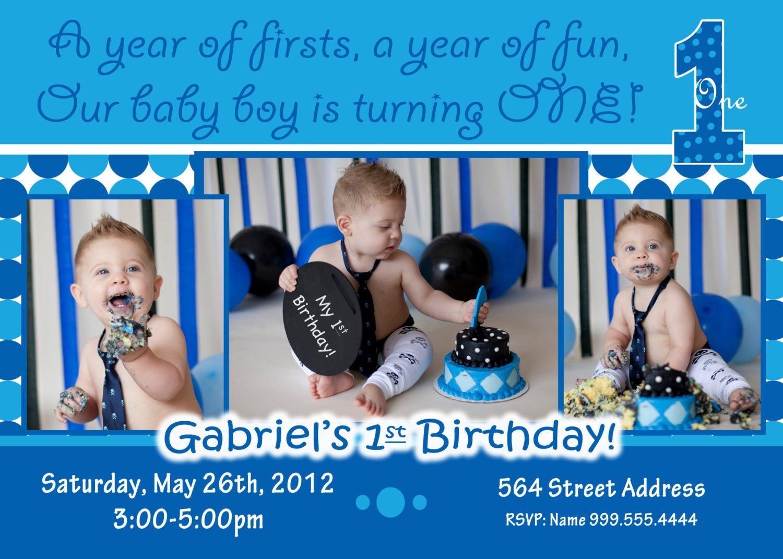 Baby Boy 1st Birthday Invitations Free Printable Baby