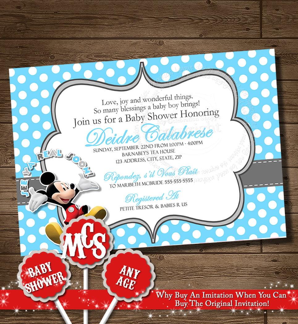Boy Shower Baby Blank Invitation Templates