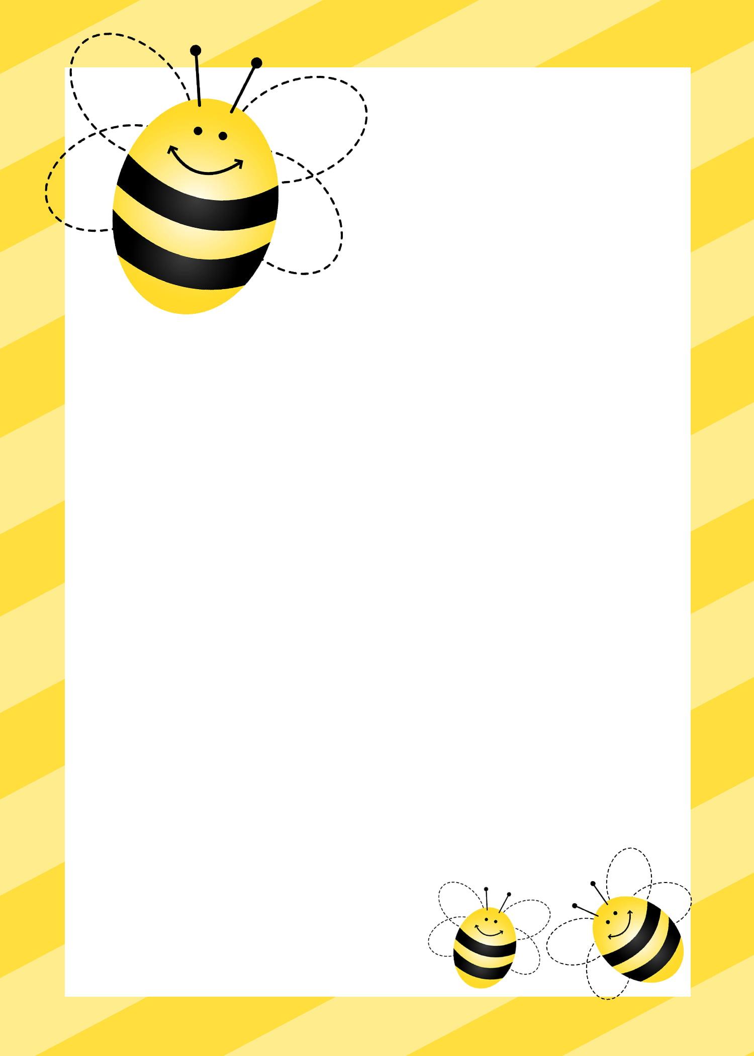 Free Printable Bee Baby Shower Invitation Idea
