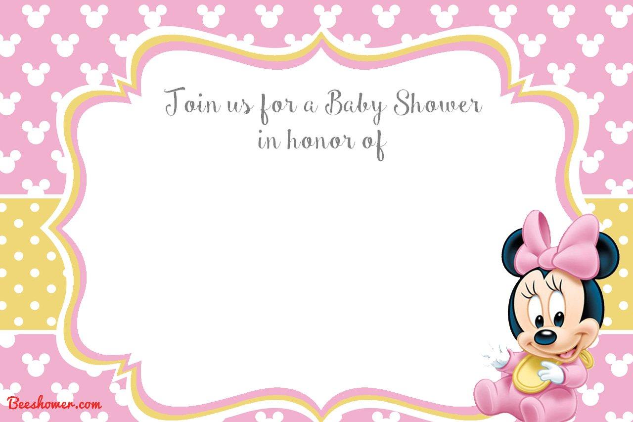 Printable Invitations Minnie Mouse