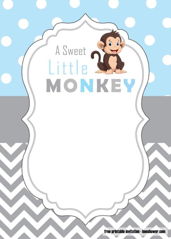 Free Cute Monkey Baby Shower