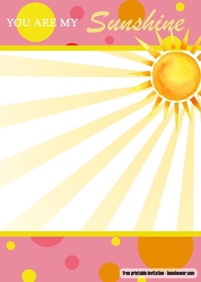 Are My Sunshine Baby Shower Invitation