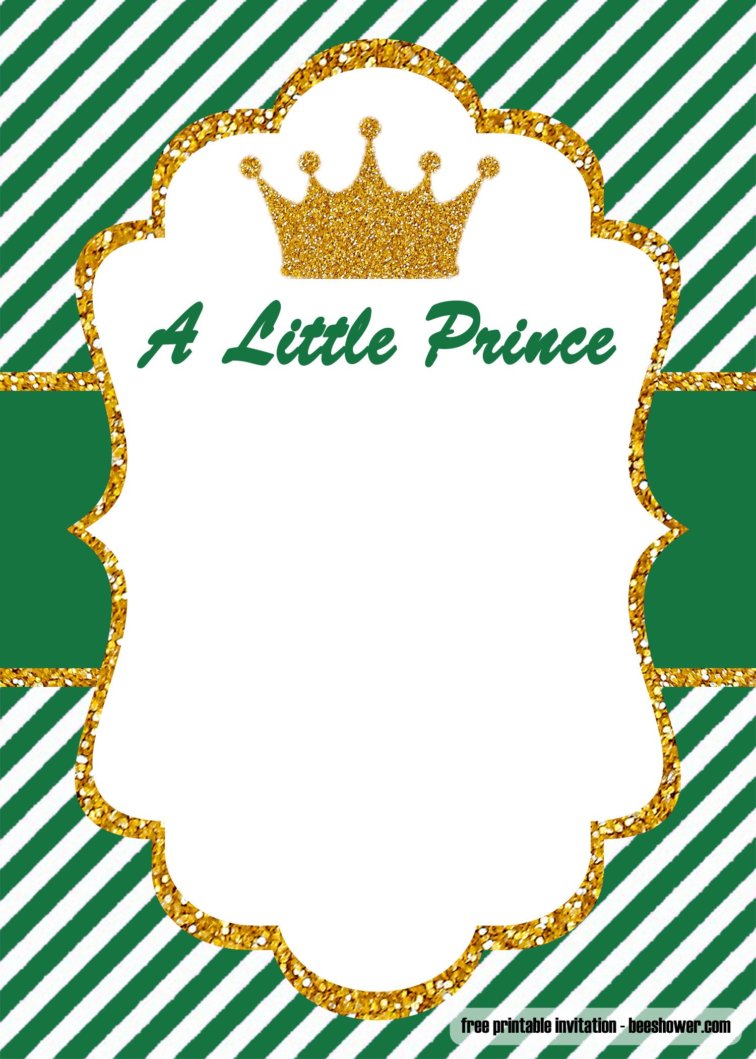 Free Prince Baby Shower Invitations Templates