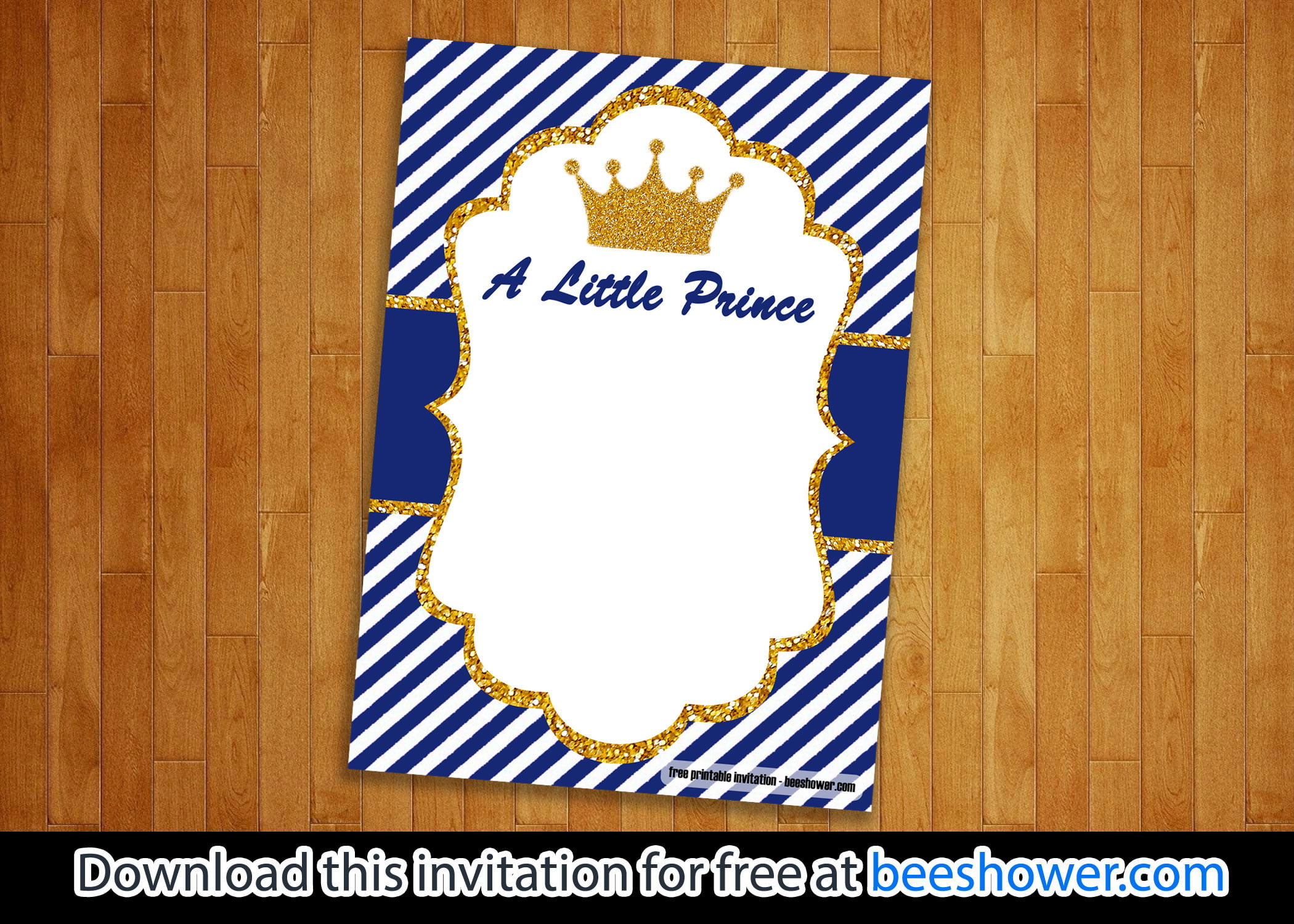 FREE Prince Baby Shower Invitations Templates FREE Printable Baby Shower Invitations Templates