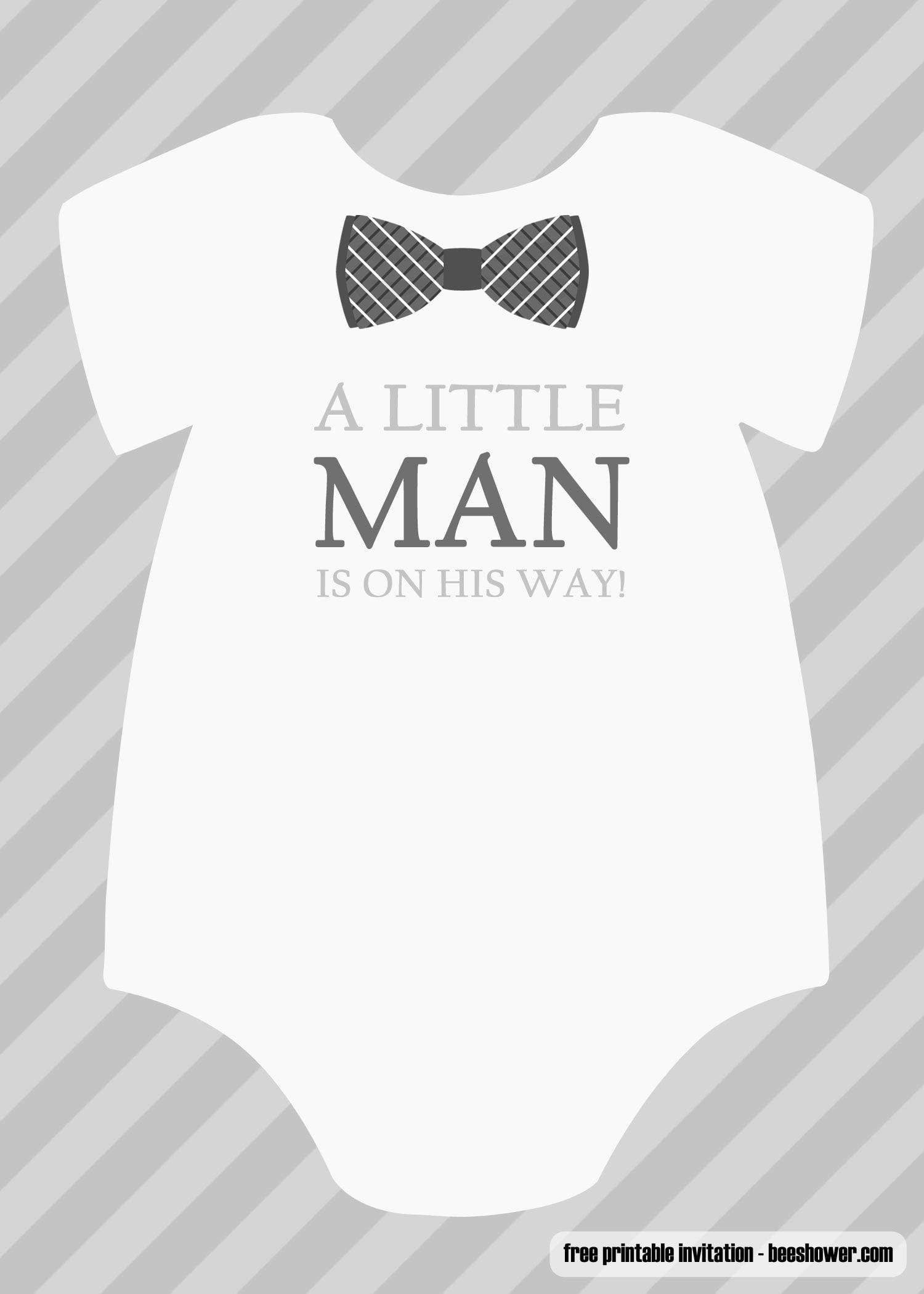 Free Boy Baby Shower Invitations Templates