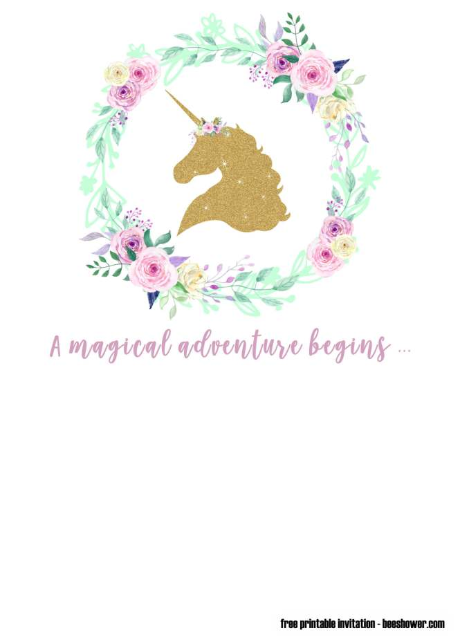 33 Free Printable Unicorn Baby Shower