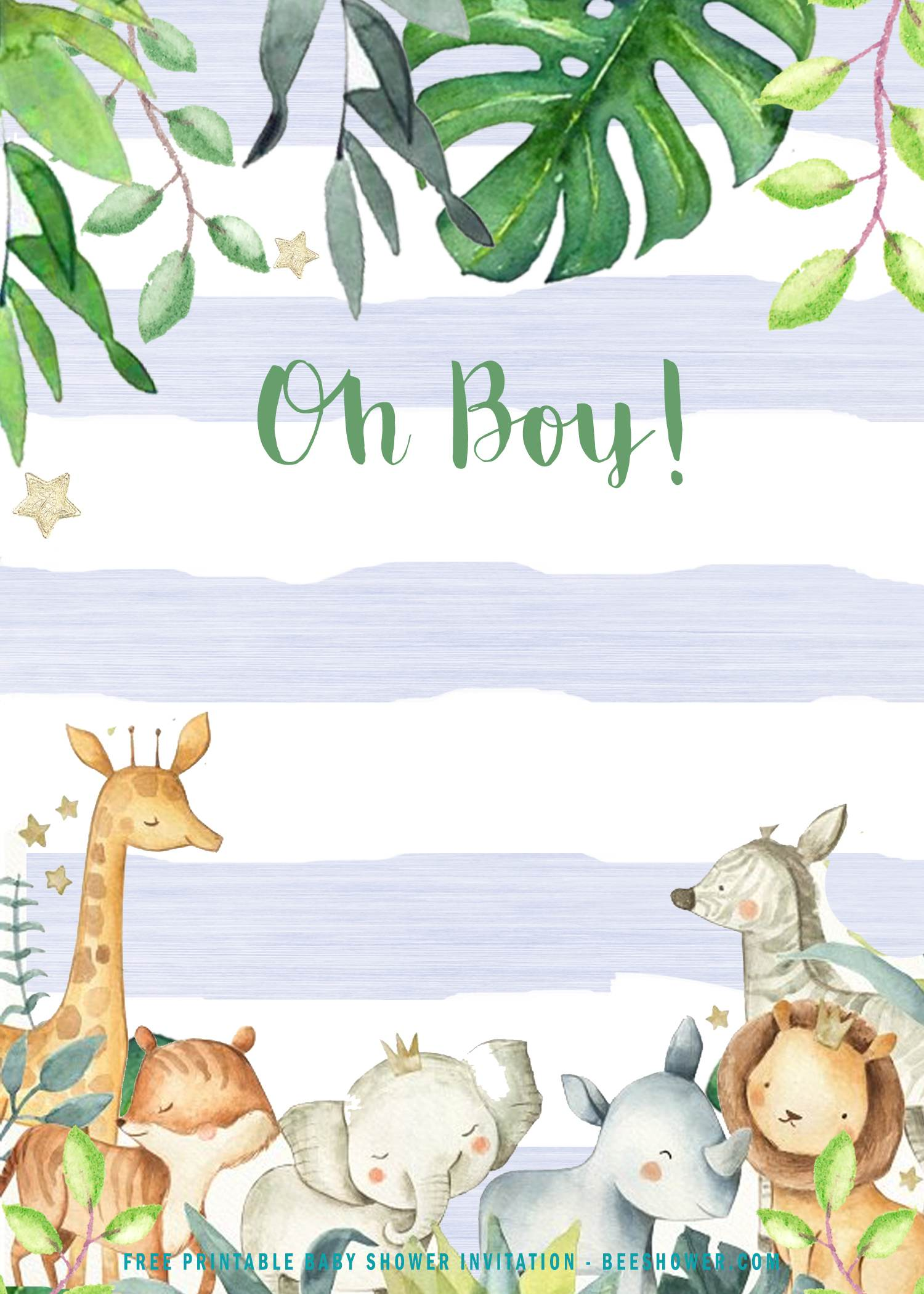 safari baby shower invitation templates