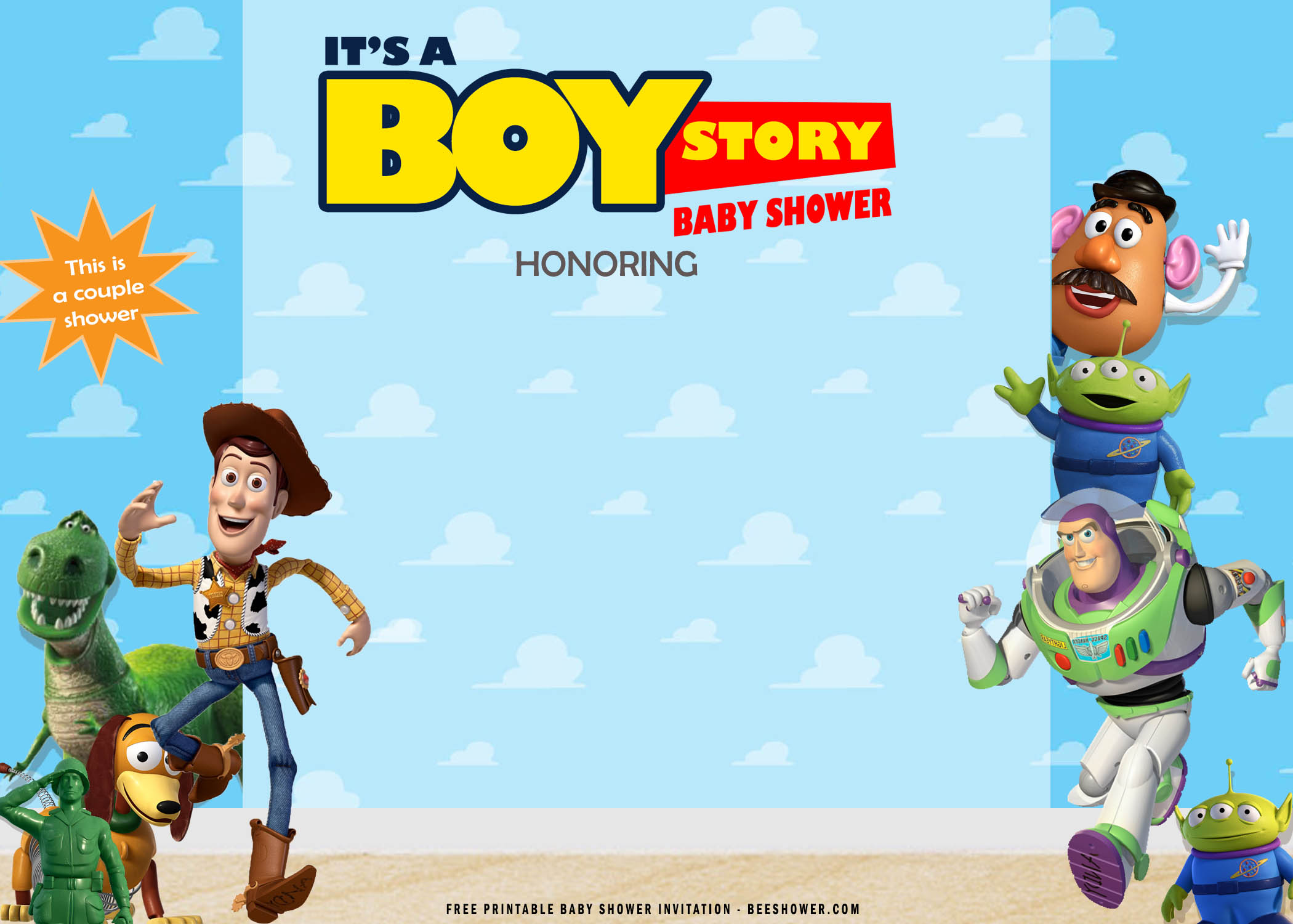 free printable toy story baby shower