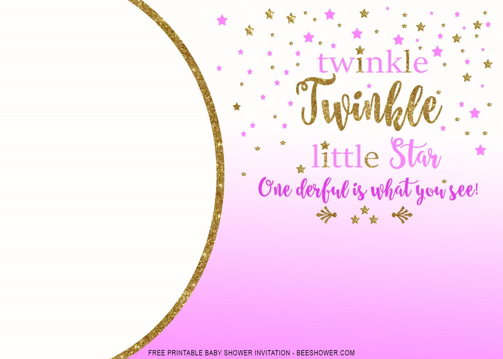 free printable twinkle baby shower