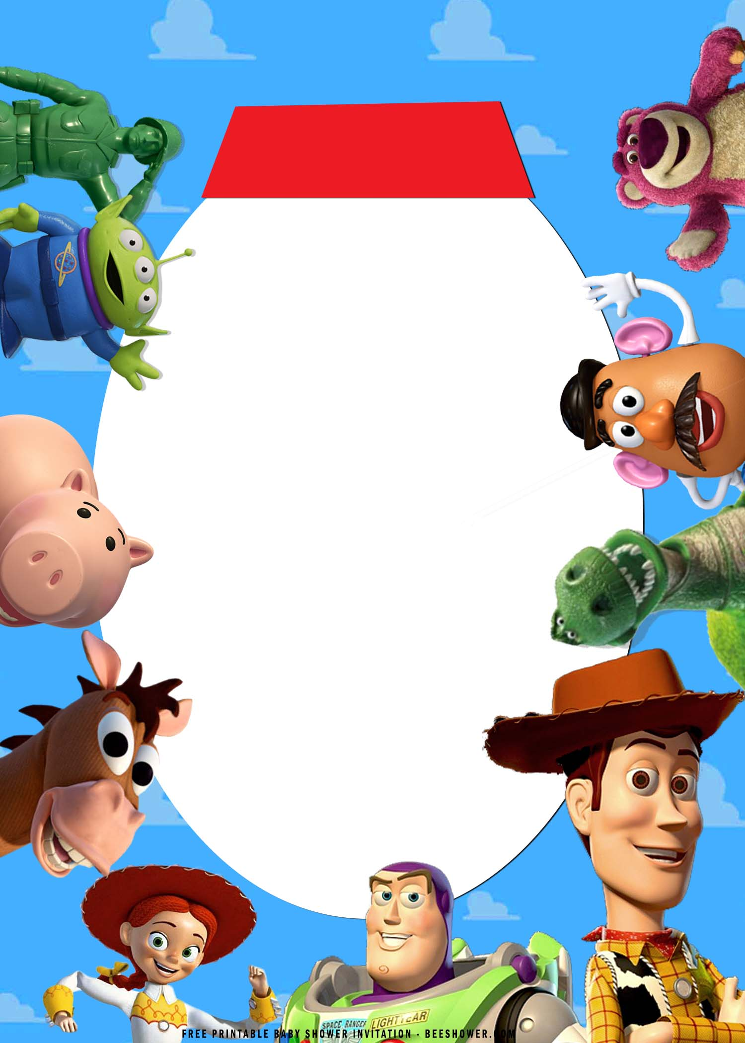 Free Printable Toy Story Birthday Invitation Templates