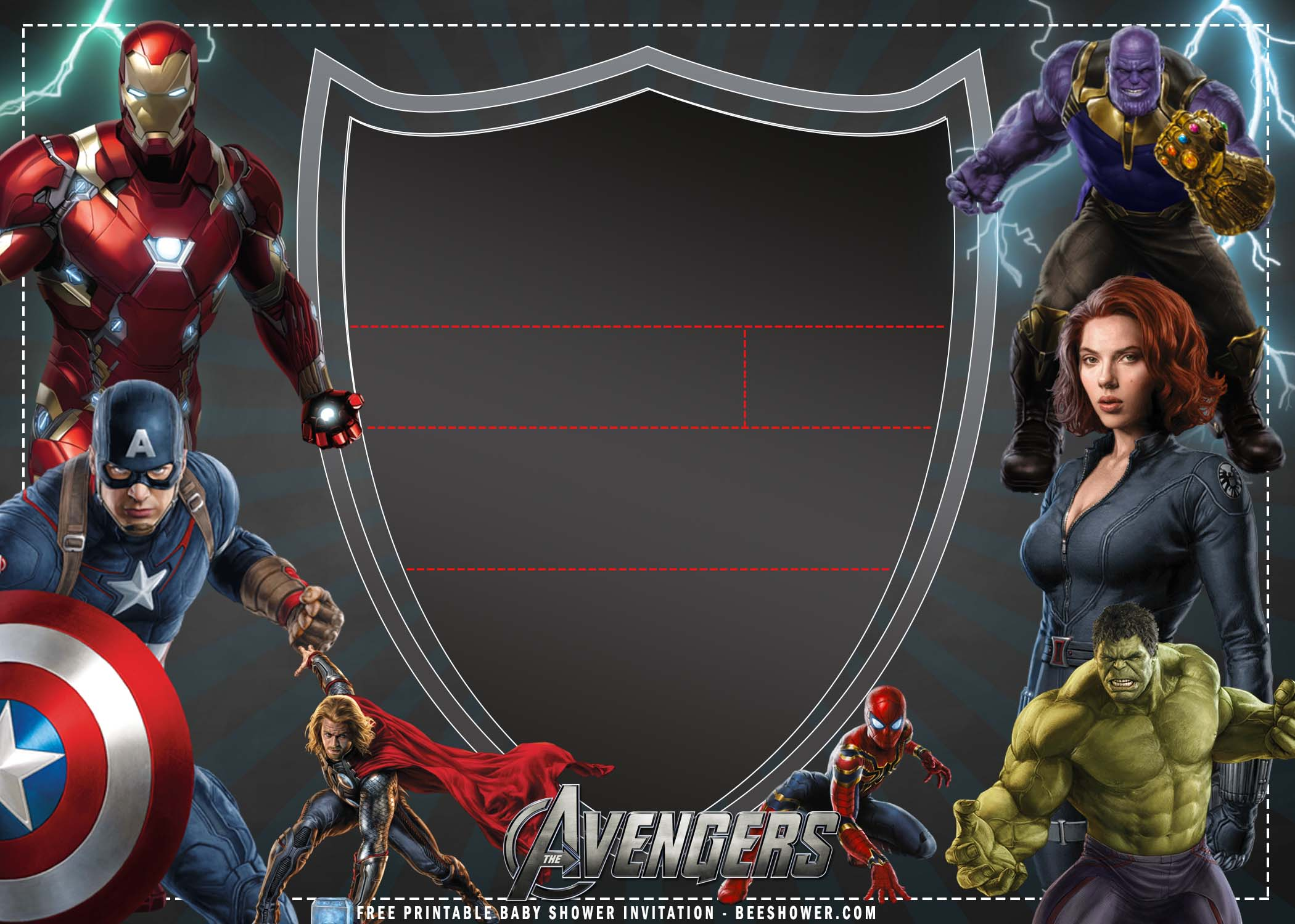 avengers birthday invitation templates