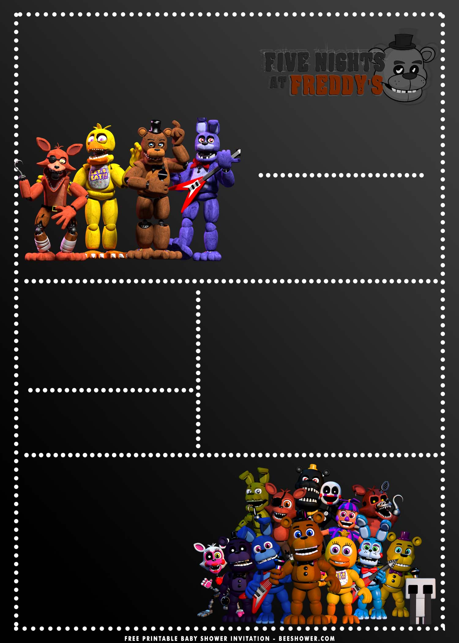 free printable five nights at freddy