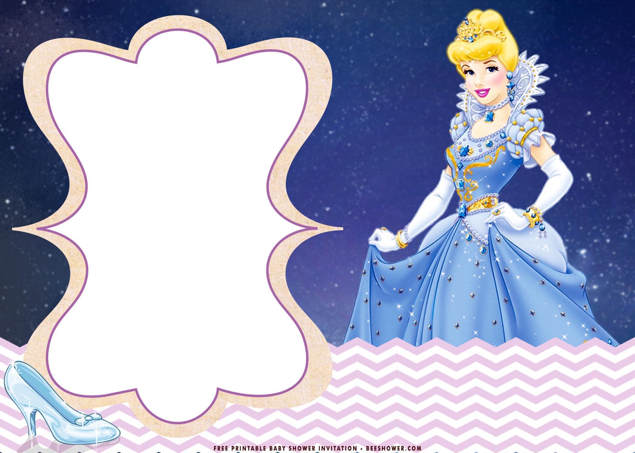 cinderella baby shower invitation