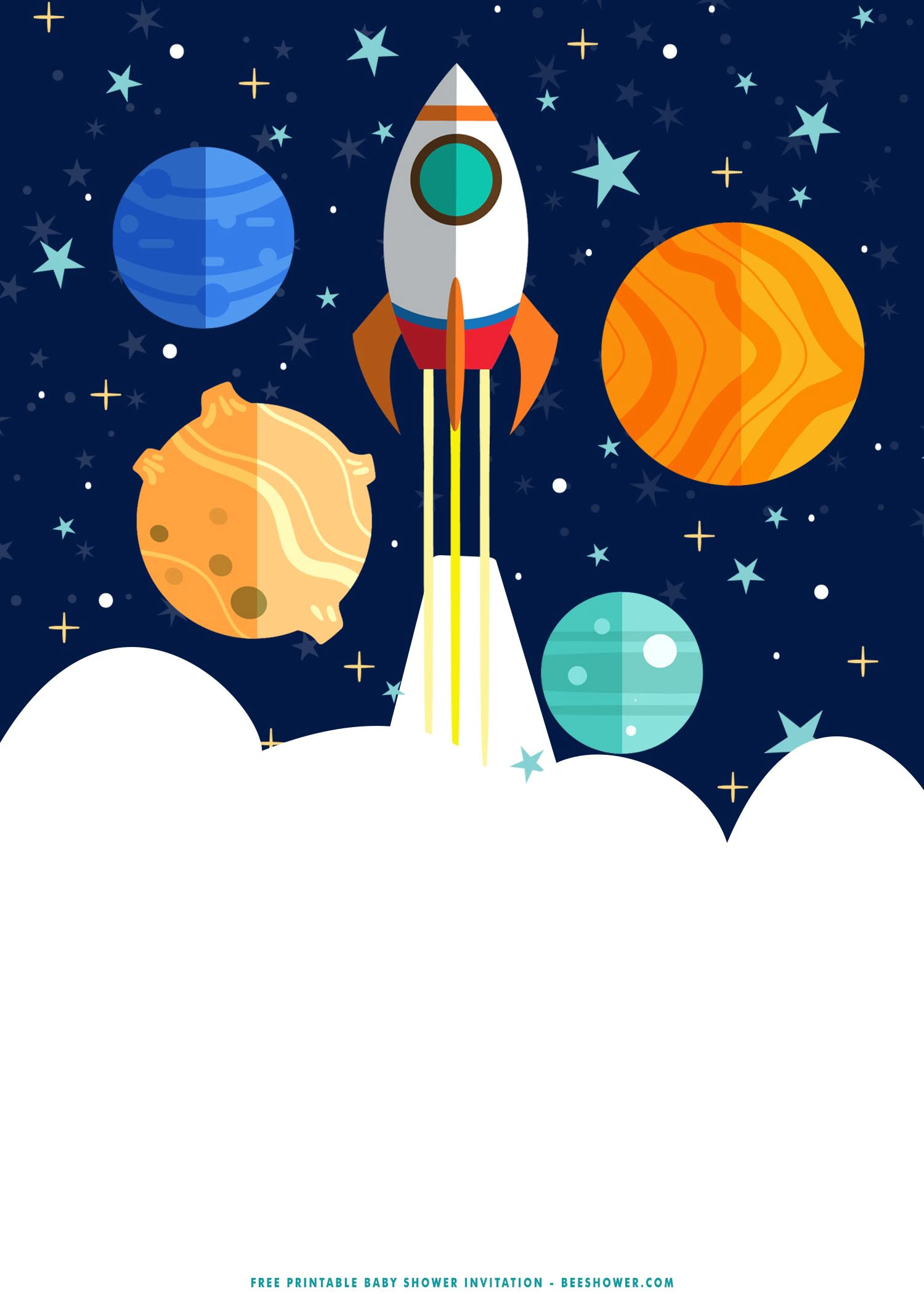 Free Printable Fabulous Outer Space Baby Shower