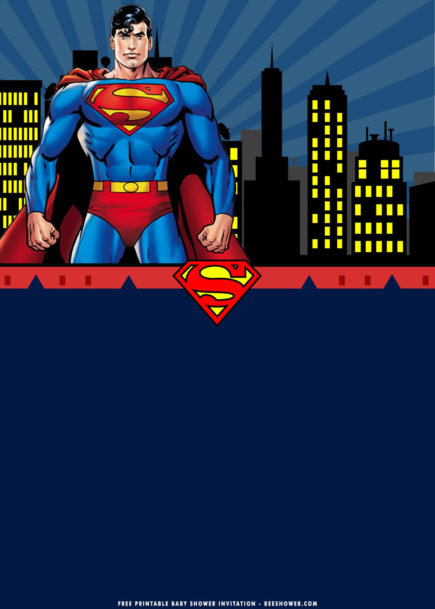 superman birthday invitation templates