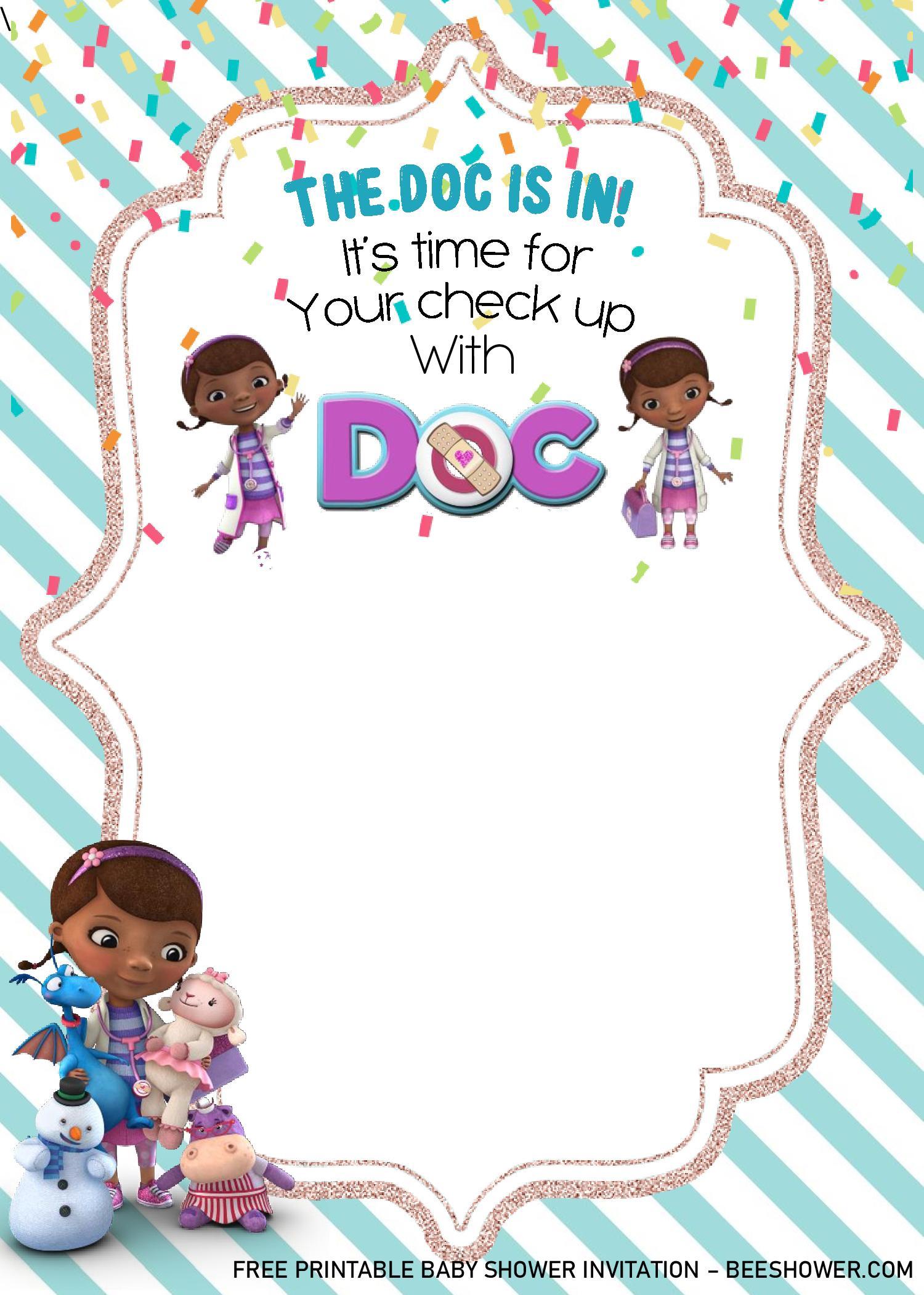 doc mstuffins birthday invitation