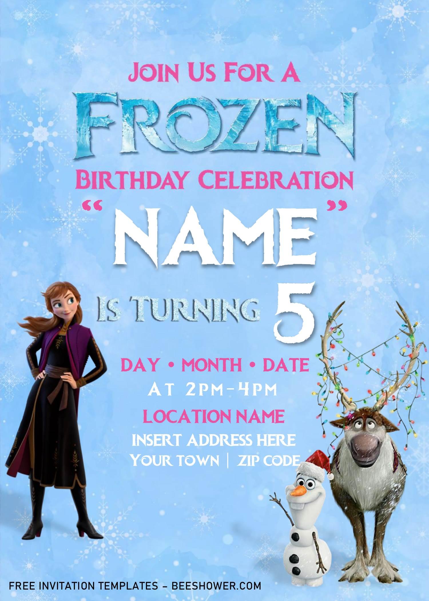 free frozen baby shower invitation