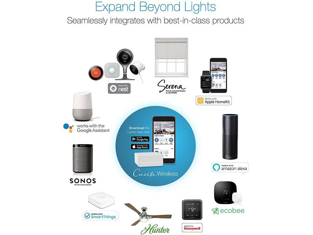 caseta wireless smart dimmer switch smart bridge and pico remote control kit