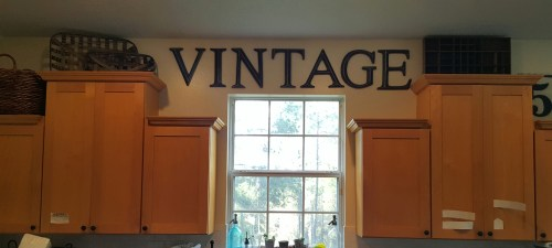 wood kitchen vintage before reno
