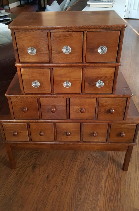 apothecary wood cabinet