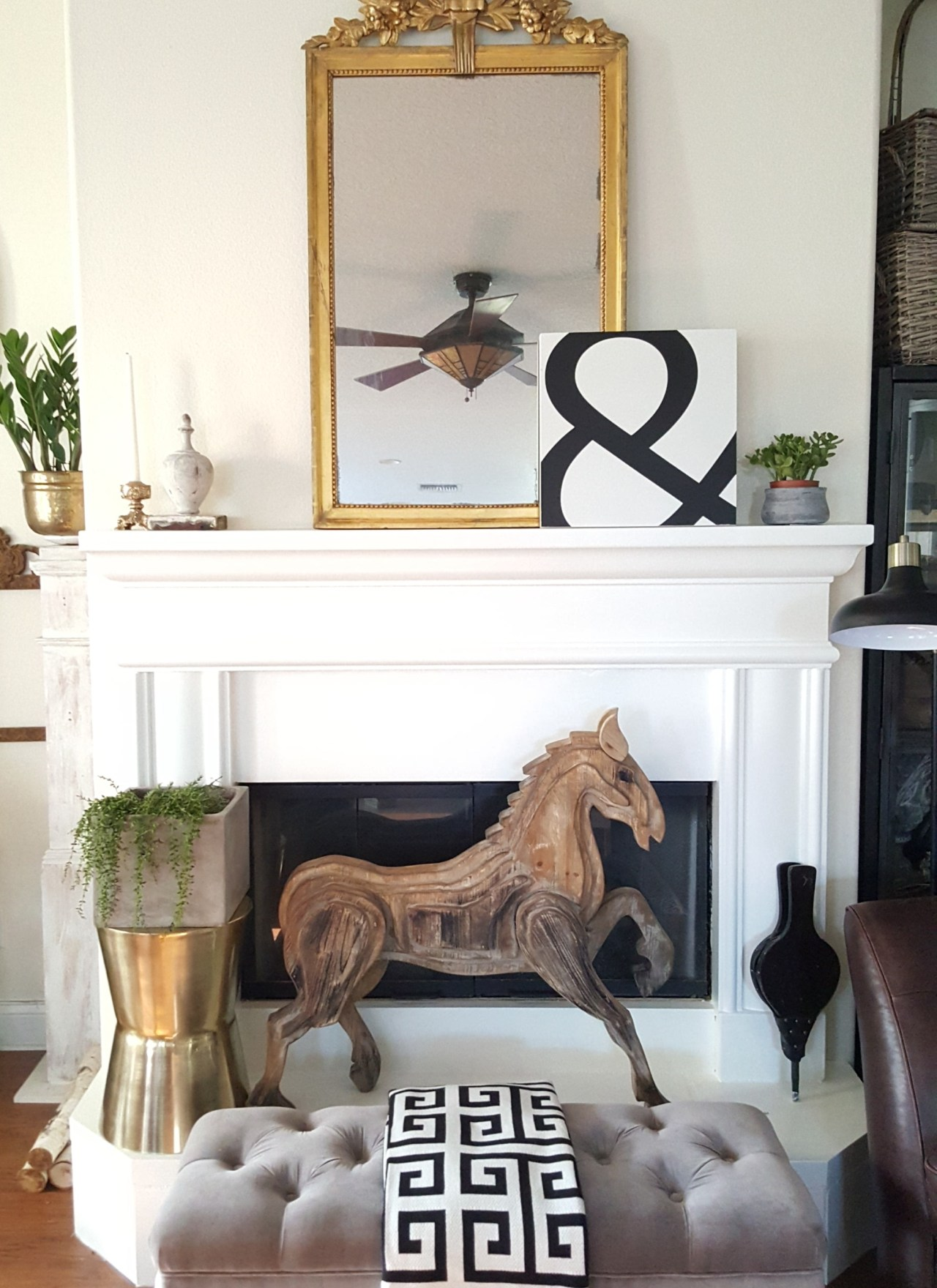 Paint Your Stone Fireplace for a Whole New Look! Easy DIY!