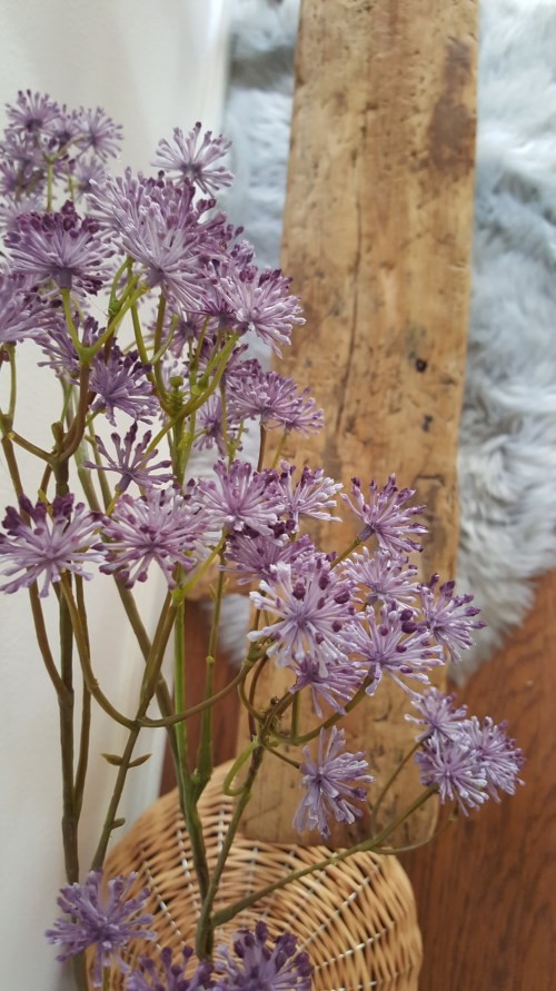 Spring Home Love Blog Hop White Wood Refresh Entryway Homegoods Purple Flowers Makeover
