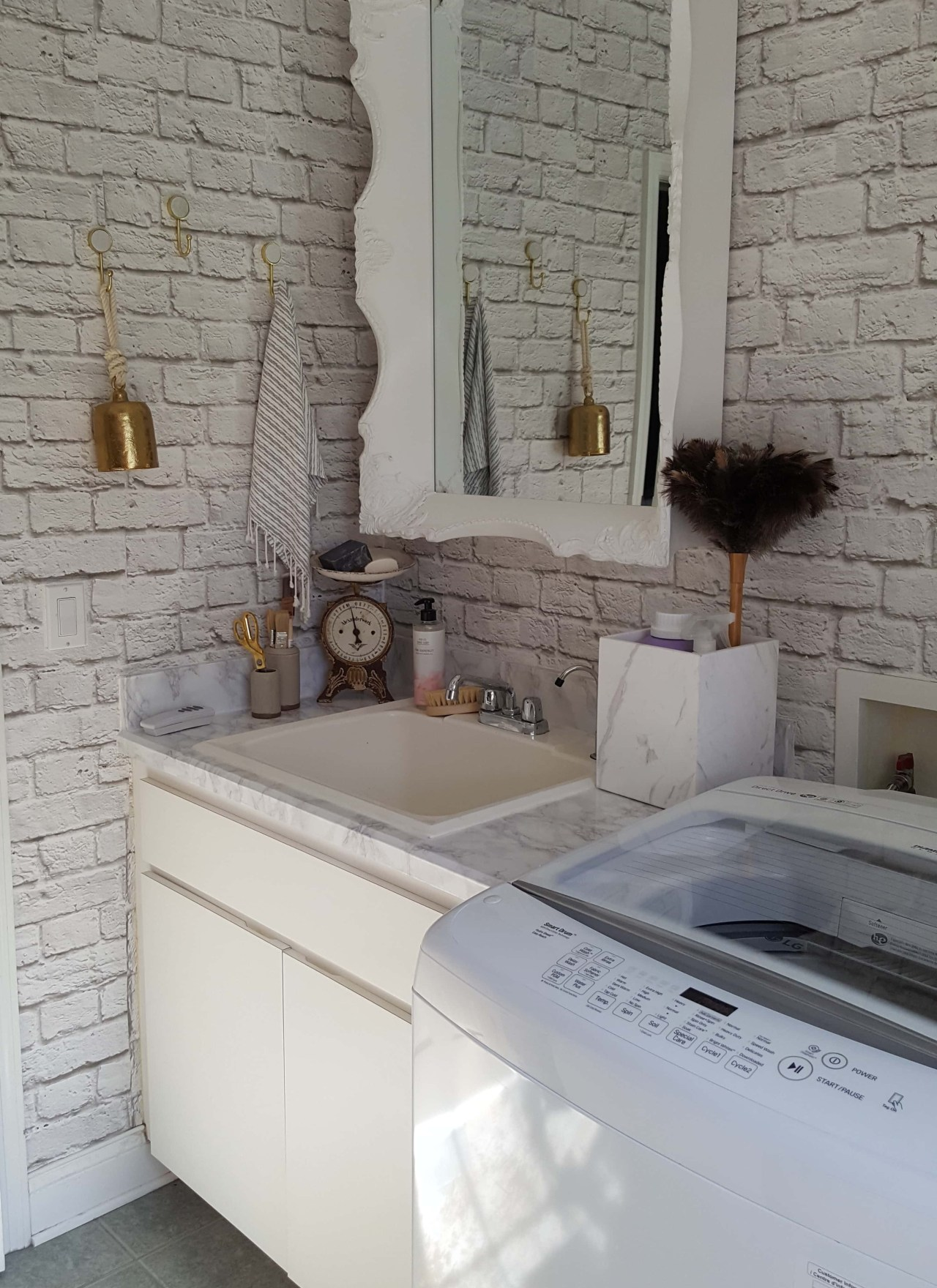 Urban Industrial Vintage Laundry Room Makeover Tips, Tricks and Sources