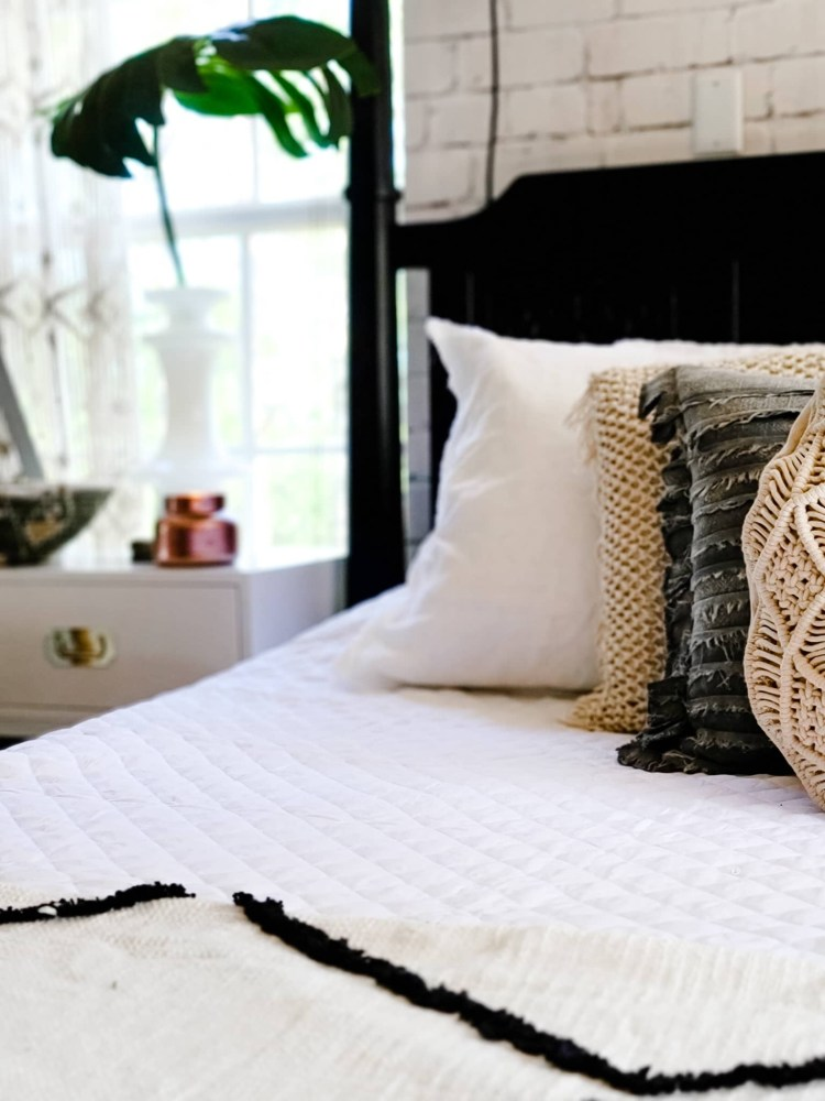 How I Gave Our Master Bedroom An Industrial Boho Refresh In 24 Hours Bees N Burlap