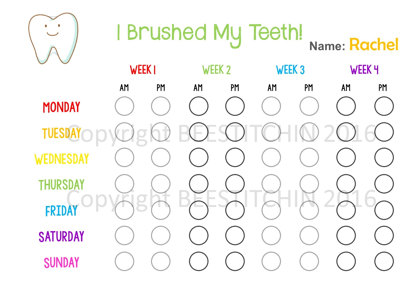 Add Teeth Worksheet