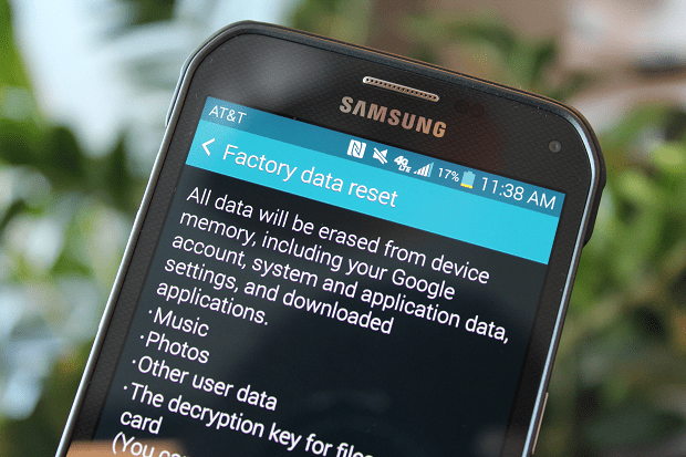 reset your mobile to factory settings