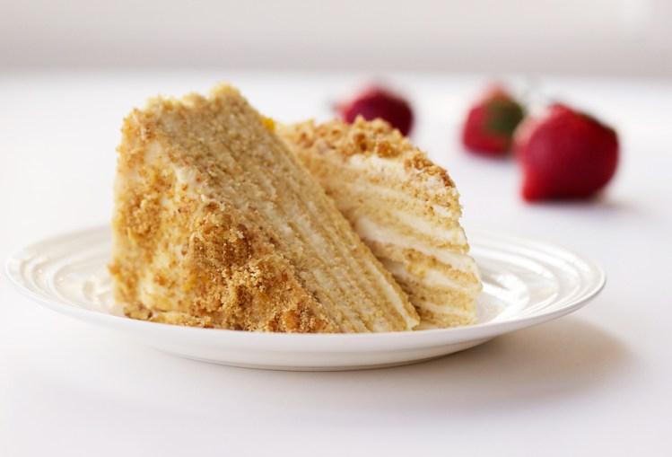 Russian Layered Sour Cream Cake