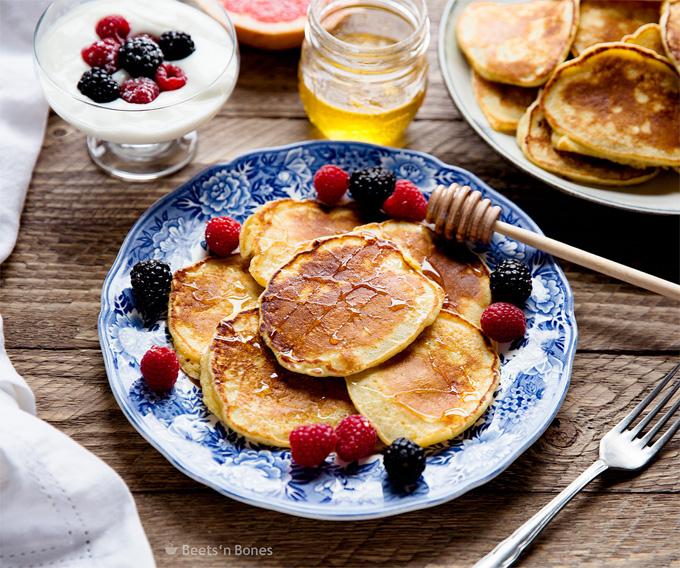 fluffy buttermilk pancakes with einkorn