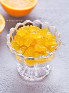 Homemade Orange Gummy Bears