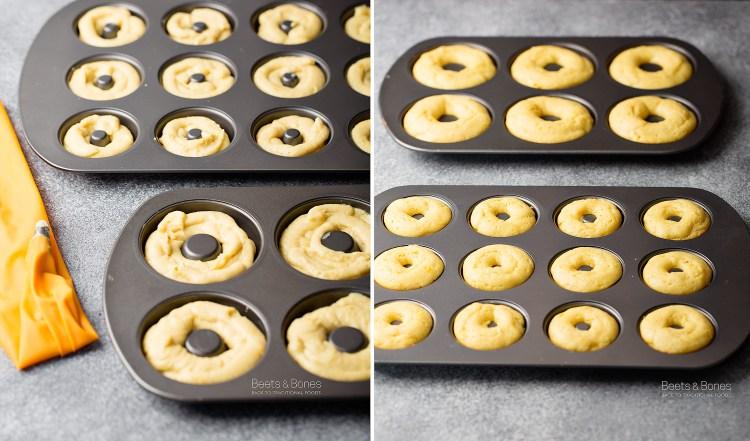 lemon donuts with einkorn flour