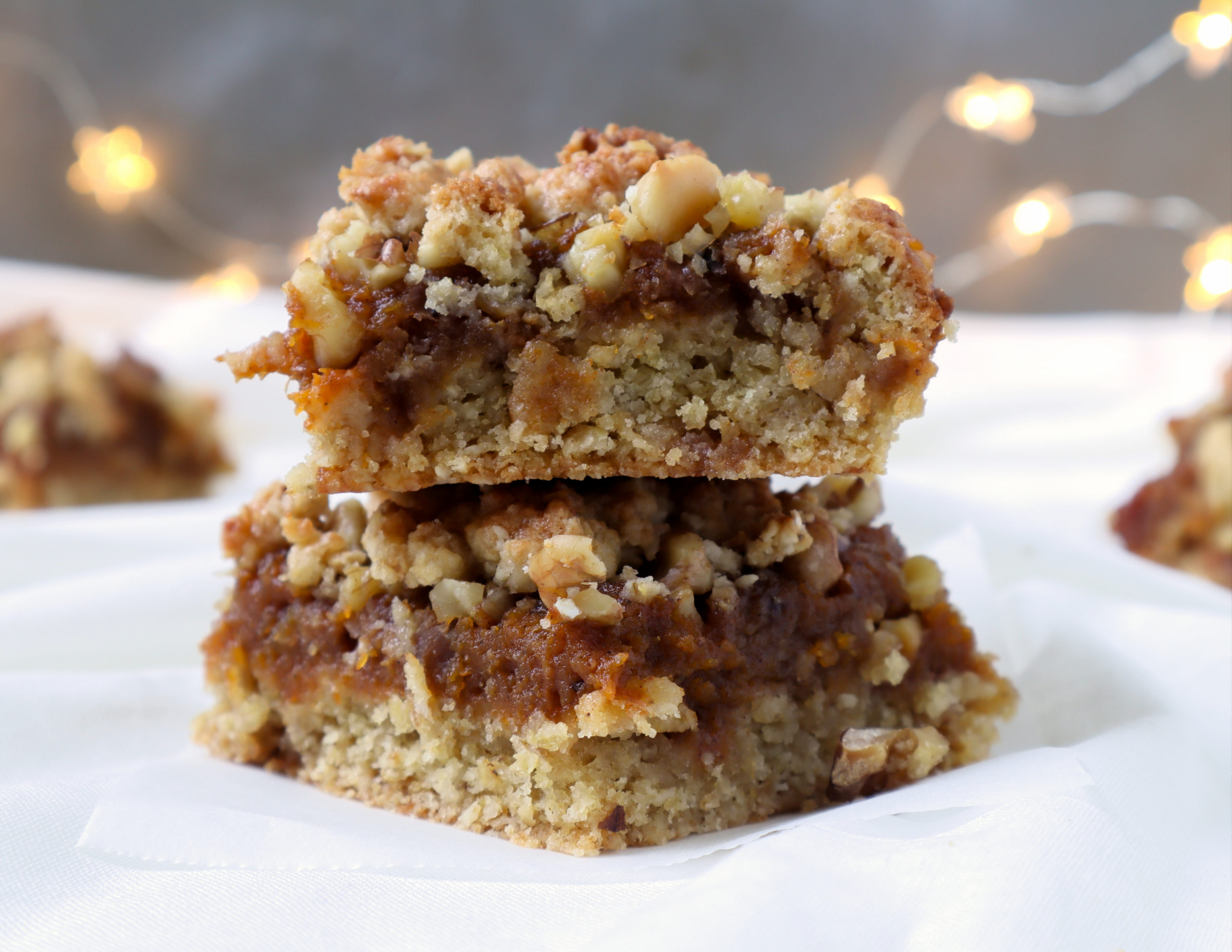 roasted butternut squash crumble bars