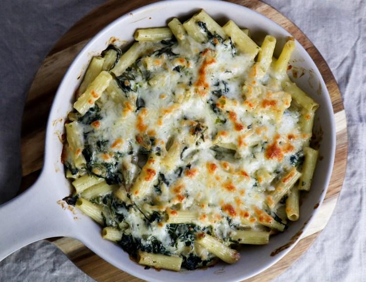 creamy spinach pasta bake creamy vegetarian pasta