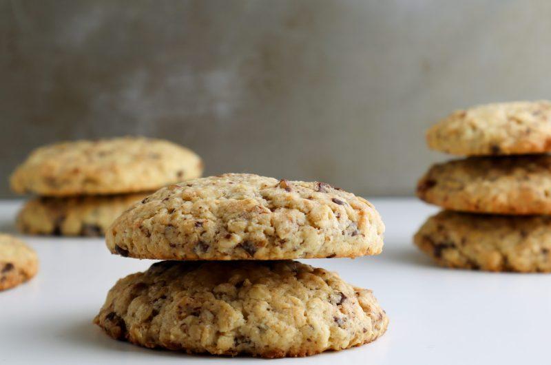 Chocolate Chunk Pecan Crumble Cookies